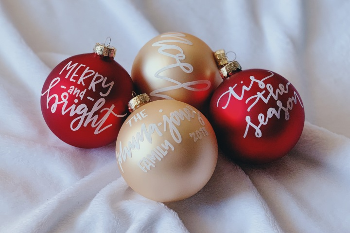 Krisligraphy: Christmas Ornaments